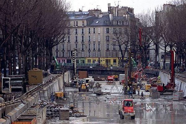 Le canal avait été entièrement vidé en 2001