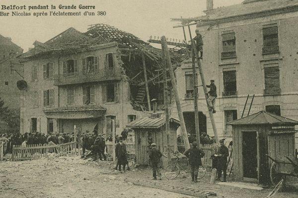 Bombardement bar Nicolas Belfort octobre 1916