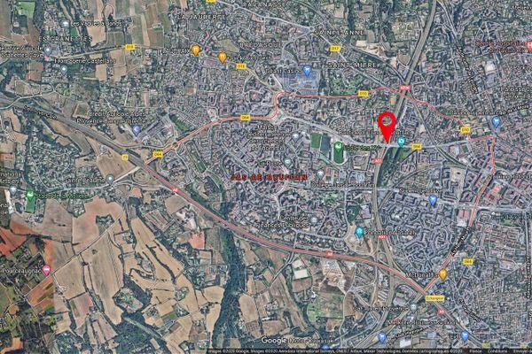 Aix-en-Provence : deux jeunes hommes gravement blessés dans un accident de la route et une voiture en fuite