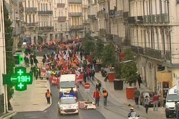 Montpellier : manifestation des syndicats contre l'accord compétitivité-emploi du gouvernement - 5 mars 2013.