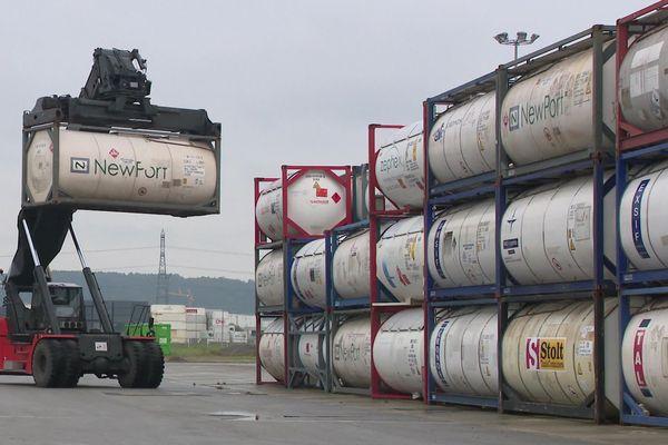 Le Havre, octobre 2019 – stockage de produits dangereux dans l'entreprise CARE