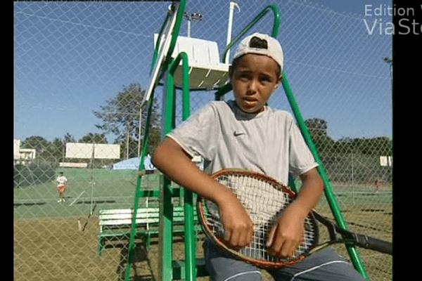 Laurent Lokoli à l'âge de 9 ans, déjà un futur champion