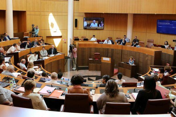 Séance publique de l'Assemblée de Corse.
