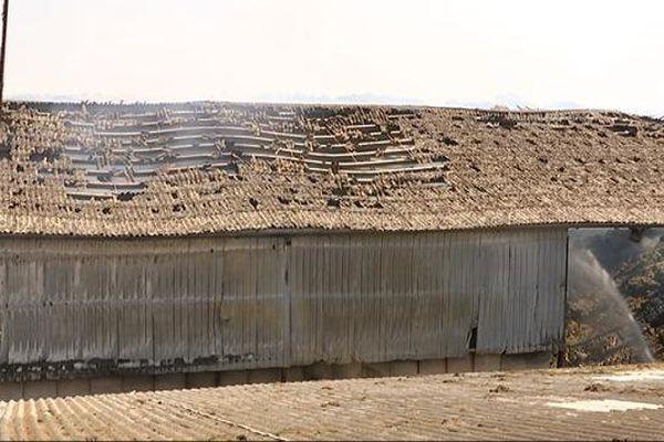 Le bâtiment de stockage de l'usine de Baigneux-les-Juifs s'est embrasé le 7 juillet 2015