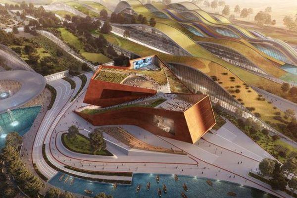 Le centre culturel dédié au cinéma, à EuropaCity (vue d'artiste).