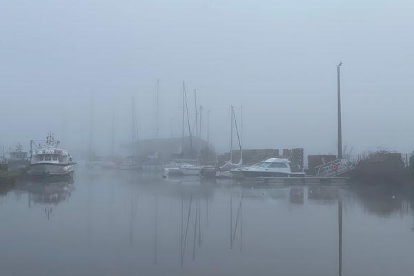 Port du Légué, sous la brume