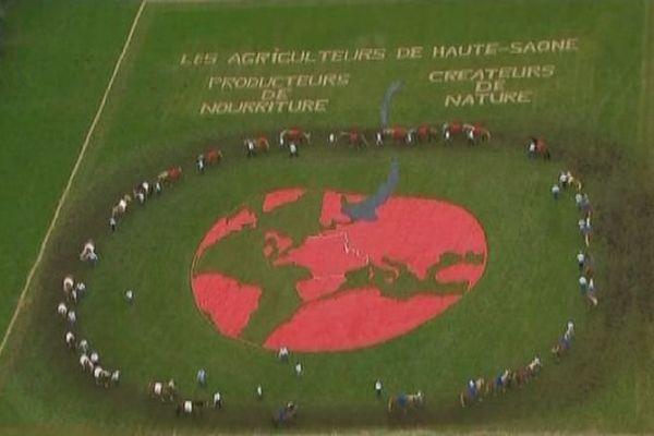 La Haute-Saône vue du ciel à l'honneur pendant le Tour de France
