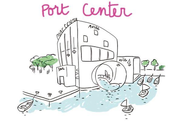Le port center accueillerait notamment un laboratoire