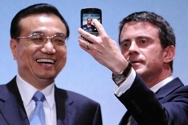 Li Keqiang et Manuel Valls