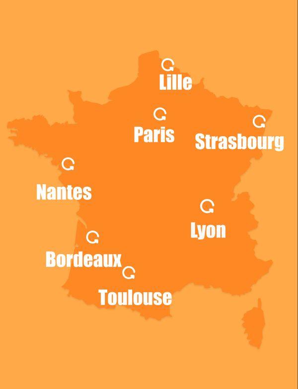 Recyclivre existe dans sept villes de France.