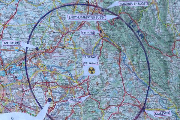 Autour du Bugey, 5 communes sont concernées, dans l'Ain et dans le nord-Isère