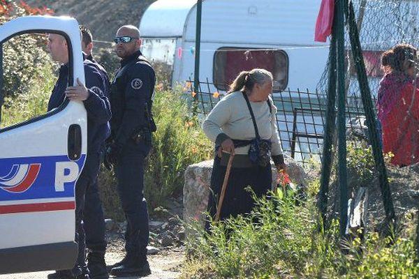 Expulsion d'un camp de Roms à Saint-Herblain le 29 avril 2015