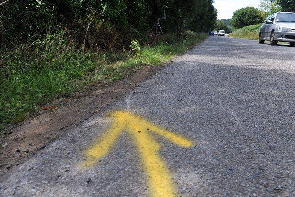 Sur les lieux de l'accident à Rohan