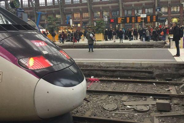 En gare Lille-Flandre (avril 2019)