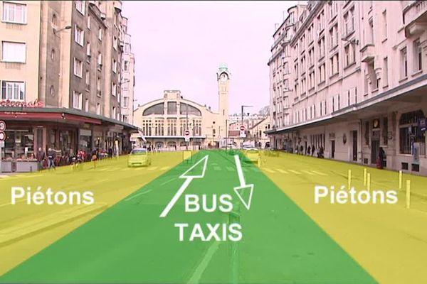 Le projet d'aménagement du parvis de la gare de Rouen à l'horizon 2020.