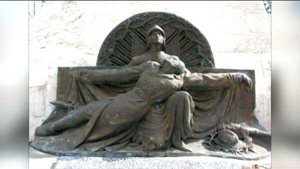 Une représentation de la sculpture dérobée.
