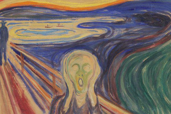 """Photographie """"Le cri"""" (1910) - Musée Munch, Oslo"""