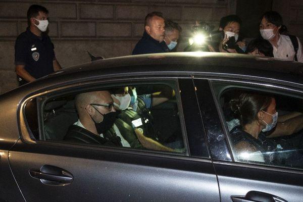 Nicolas Zepeda quitte le palais de justice de Besançon pour être incarcéré à la maison d'arrêt, le 24 juillet 2020.