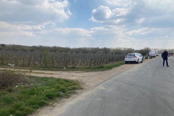 Vignes de Reynald Héaulé situées en face de l'extension de la déchetterie de Cléry-Saint-André