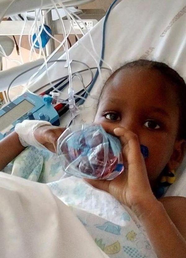 Kaliatou a été opérée en urgence d'une tétralogie de Fallot (malformation cardiaque grave)