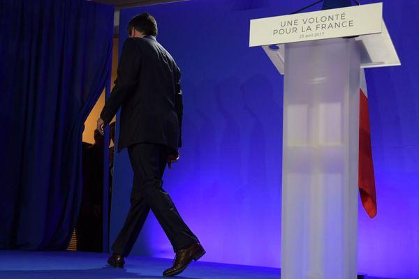 François Fillon après le premier tour de l'élection présidentielle le 23 avril 2017