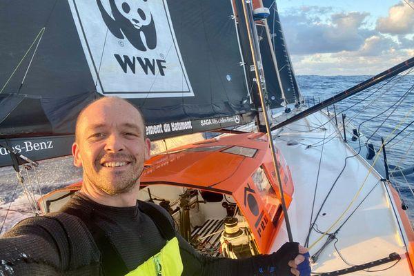 Kevin Escoffier sur PRB lors du Vendée Globe 2020