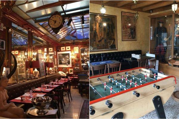 Les cafés redoutent une reprise sans client. (A gauche le café du Palais de Reims, à droite, le café de la Madelon à Mancy).