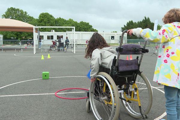 À Neuville-de-Poitou, les élèves ont testé différents parcours