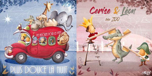 """illustration de """"Plus douce la nuit"""" chaîne YouTube pour les tous petits, 100% marseillaise"""