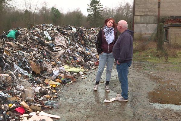 A Rédange, c'est environ 200 tonnes d'ordures qui ont été déversées depuis le mois d'octobre.