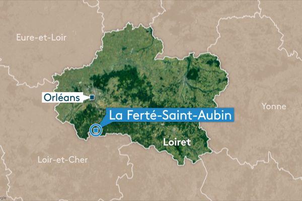 La Ferté-Saint-Aubin (carte).