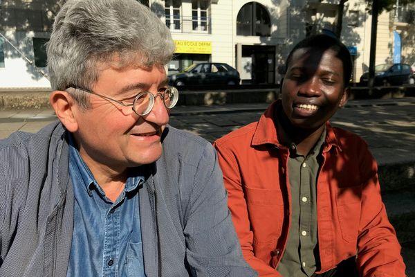 Falmarès et Gaspard Norrito, ami et président du comité de soutien au jeune poète