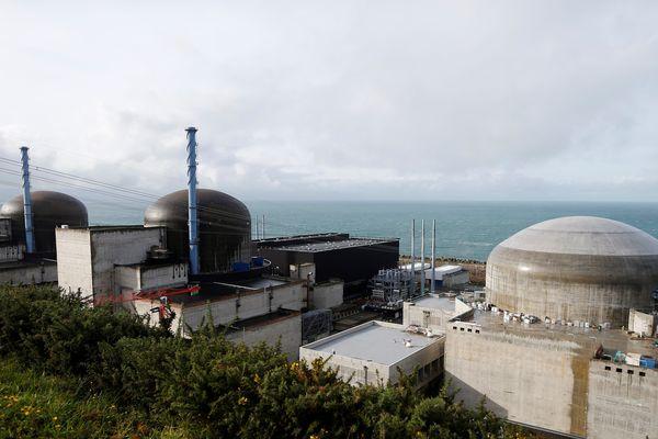 Le site de la centrale EPR de Flamanville (Manche) en novembre 2016