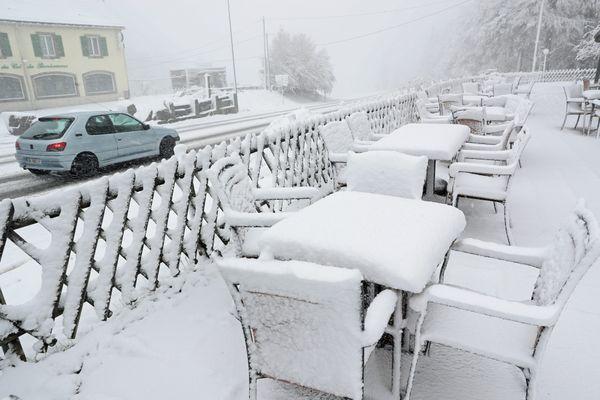 Une dizaine de centimètres de neige fraîche au col du Bonhomme en 2018.