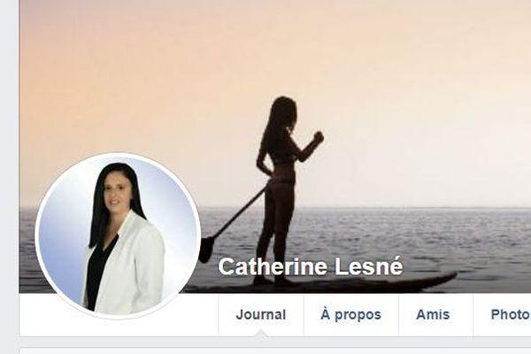 La page Facebook de Catherine Lesné, condamnée mercredi par le tribunal d'Agen à 2 mois de prison avec sursis et cinq ans inéligibilité pour avoir tenu des propos négationnistes sur les réseaux sociaux. Elle n'est plus active depuis septembre 2018.