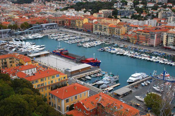 Le quartier du Port à Nice.