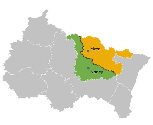 La Meurthe-et-Moselle et la Moselle partagent plus de 150km de frontières. Autant de territoire que chacun des deux SDIS peut couvrir selon les besoins.