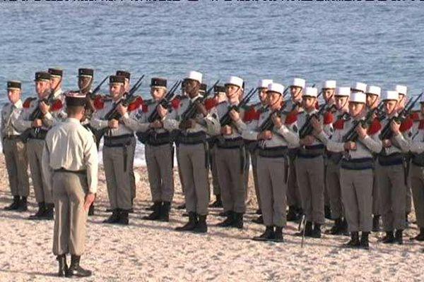 Cérémonie du 1er Régiment de cavalerie de la Légion étrangère jeudi soir à Cassis.