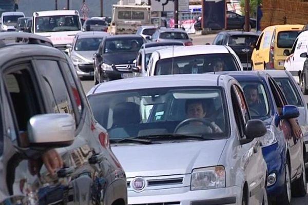 Les embouteillages sont courants sur la rocade d'Ajaccio.