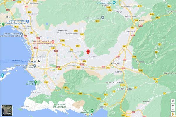 Le feu est parti de la route d'Allauch à l'est de Marseille.