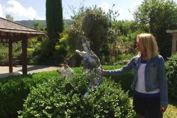 Toutes les sculptures ont été réalisées par la sculptrice installée à Chambéry.