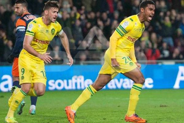 FC Nantes VS Montpellier : joie Lévy Djidji après son but.