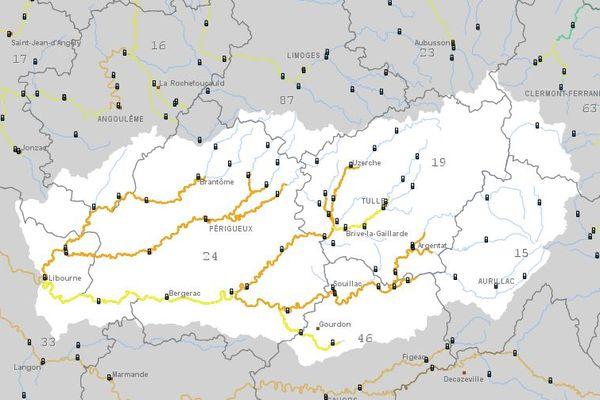 Vézère, Dronne, Dordogne sont concernées par la vigilance orange