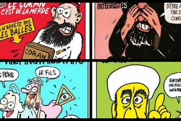 Photomontage de une de Charlie Hebdo