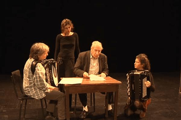 Pierre Debauche, à l'occasion d'une représentation au Théâtre de l'Union à Limoges en 2015.