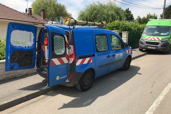 L'agent d'Enedis intervenait sur le réseau électrique, au moment de l'accident