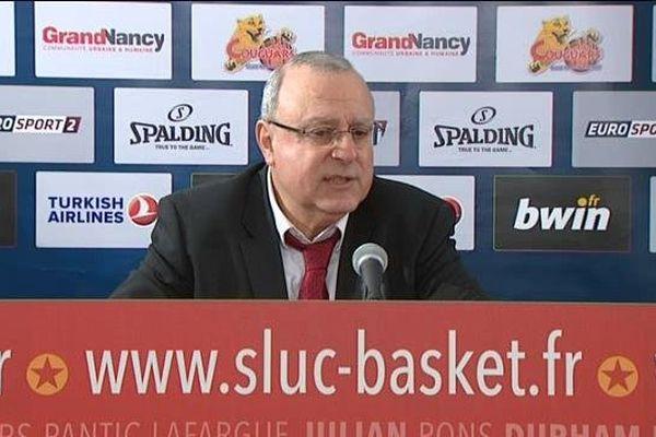 Alain Weisz, coach du Sluc Nancy Basket.