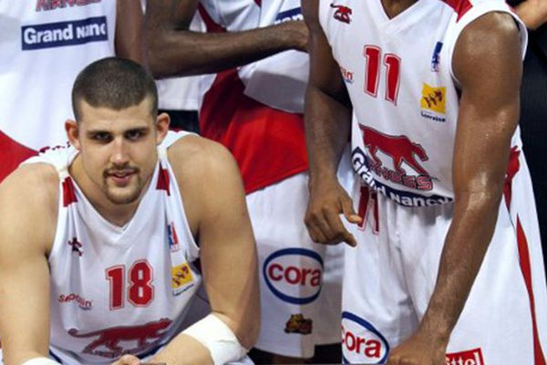 Le CSP Limoges fait une bonne touche en recrutant l'ailier-fort de Bilbao (ESP) Adrien Moerman (#18) ici sous les couleurs de Nancy