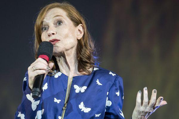 L'actrice Isablle Huppert, début août 2016, lors d'un festival en Suisse.