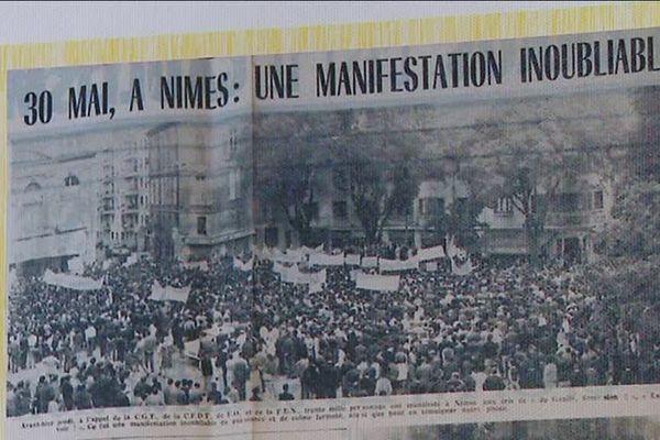 Un an à rechercher des photos de l'époque, des articles de journaux, des témoins et acteurs de mai 68. A Nîmes, les militants cgtistes se sont attachés à mettre en perspective les 50 ans de cette révolution sociale.